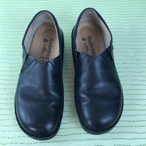 Finn Comfort Newport  Leather Slip on Clog SZ 39